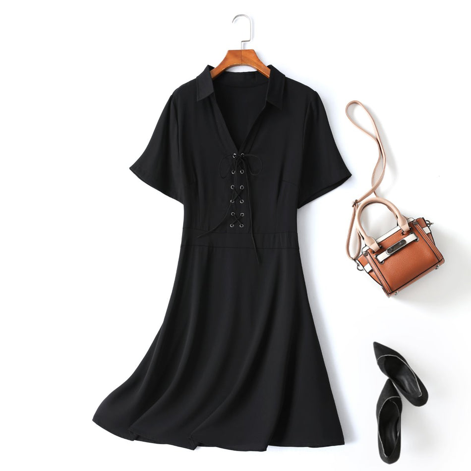 Plus Size Black Shirt Dress
