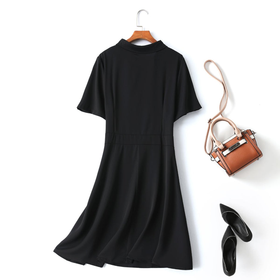 Nanette Plus Size Black Shirt Dress