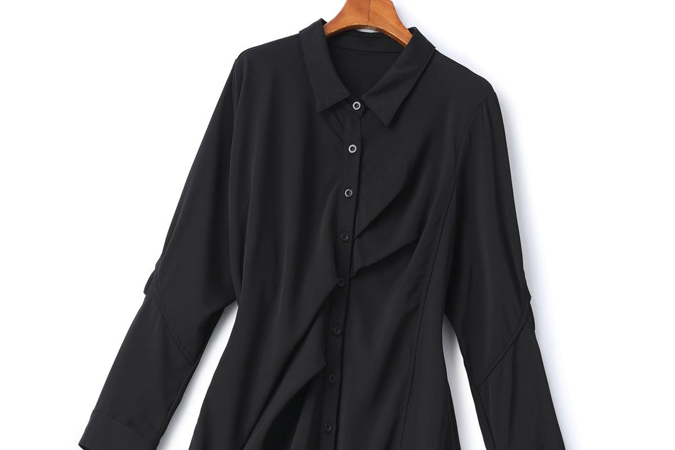 Ember Plus Size Black Shirt Dress