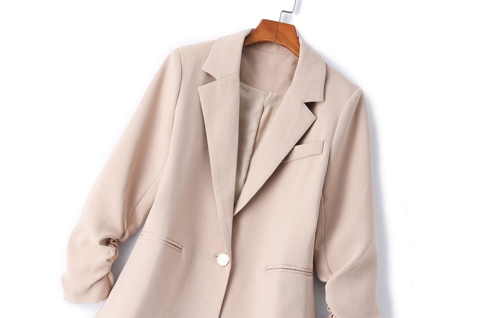 Bentley Plus Size Scrunched Sleeve Blazer