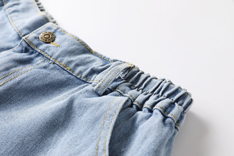 Plus Size Blue Denim Shorts