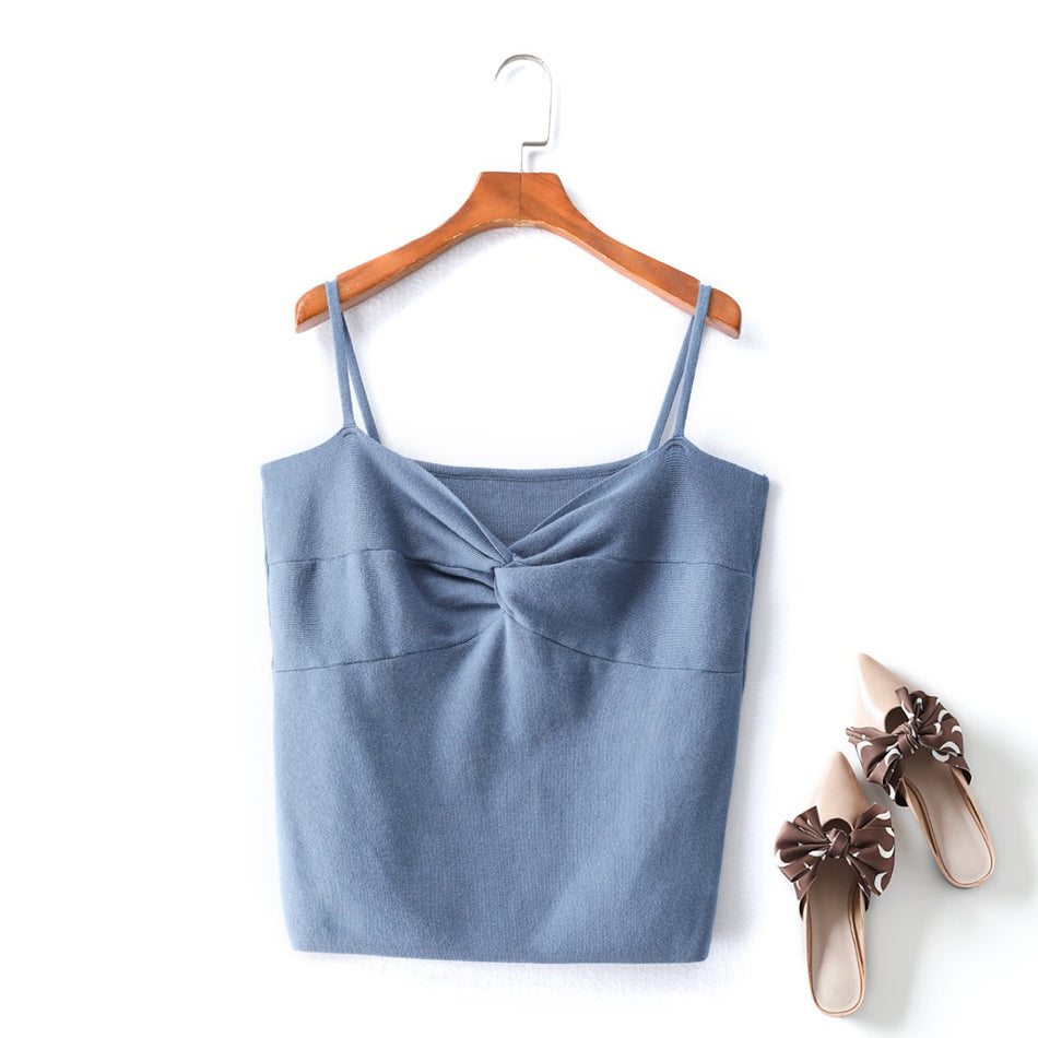 plus size blue camisole sleeveless top