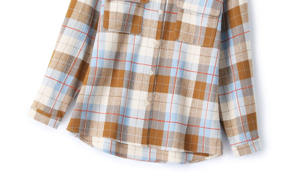 Charley Plus Size Fleece Checked Shirt