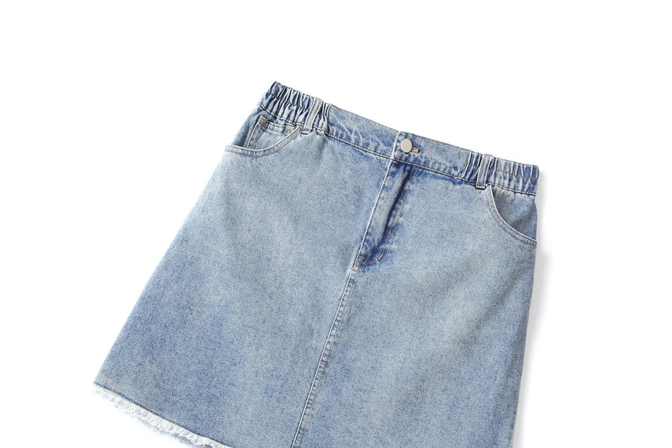 Falyn Plus Size Denim Skirt
