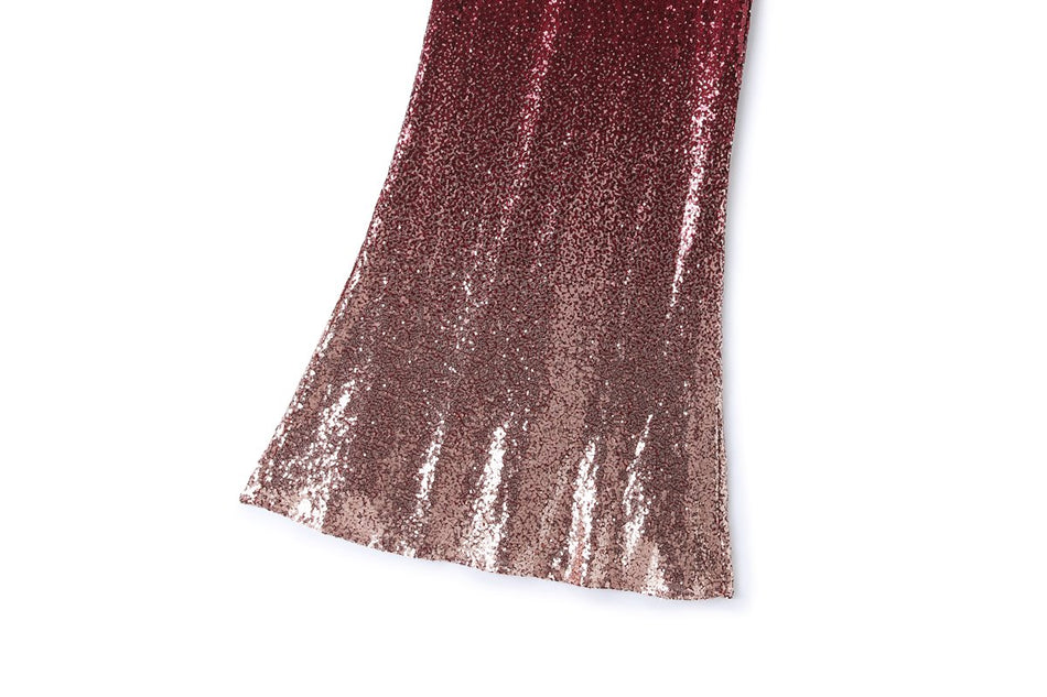 Waiva Plus Size Sequins Evening Gown