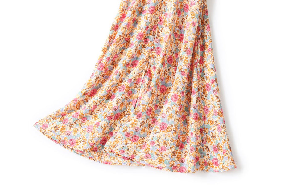 Carina Plus Size Vintage Floral Midi Dress