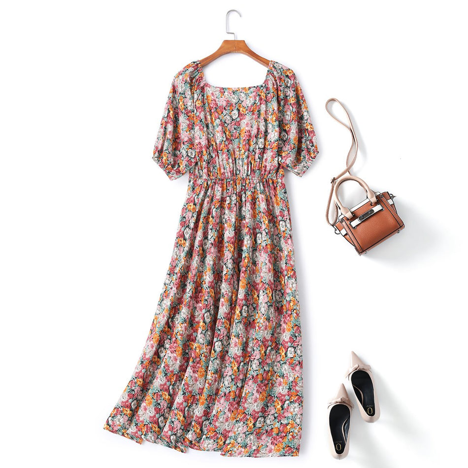 Fia Plus Size Floral Midi Dress
