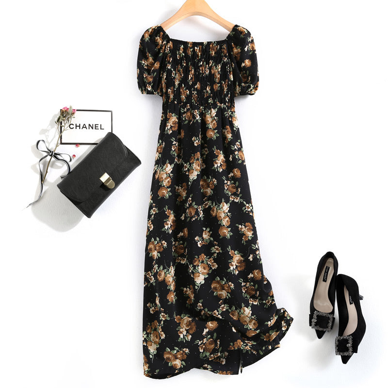 Irie Plus Size Square Neck Floral Midi Dress