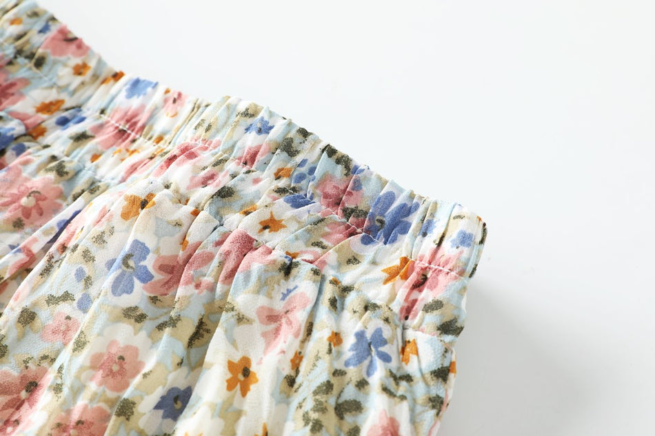 Sofia Plus Size Floral Pleated Midi Skirt