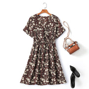 plus size floral wrap dress