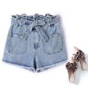 plus size highwaist denim shorts