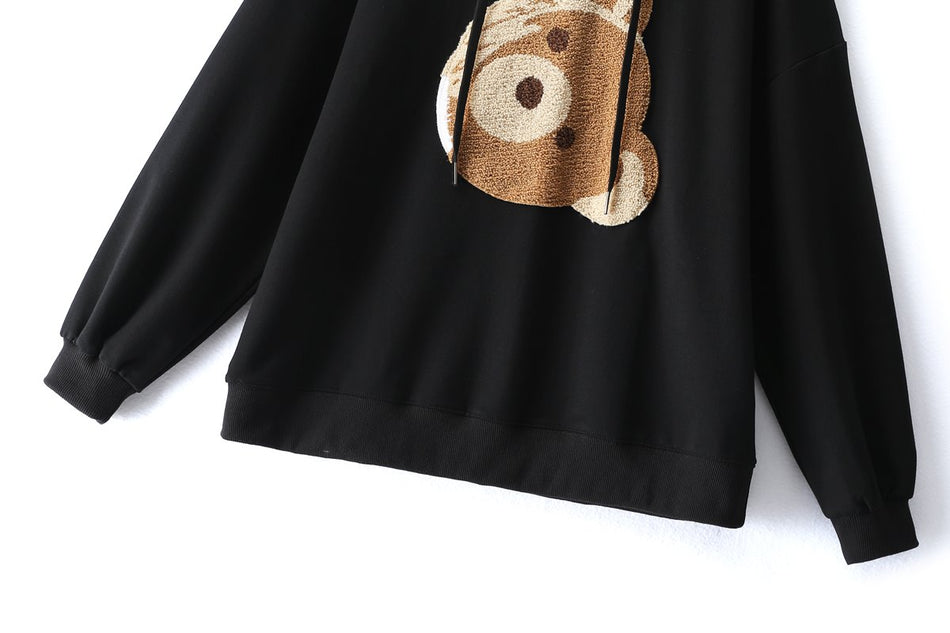 Prisca Plus Size Bear Hoodie Sweater
