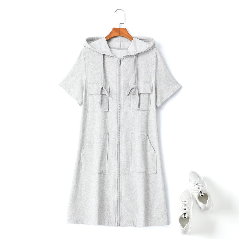 plus size hoodie t shirt dress
