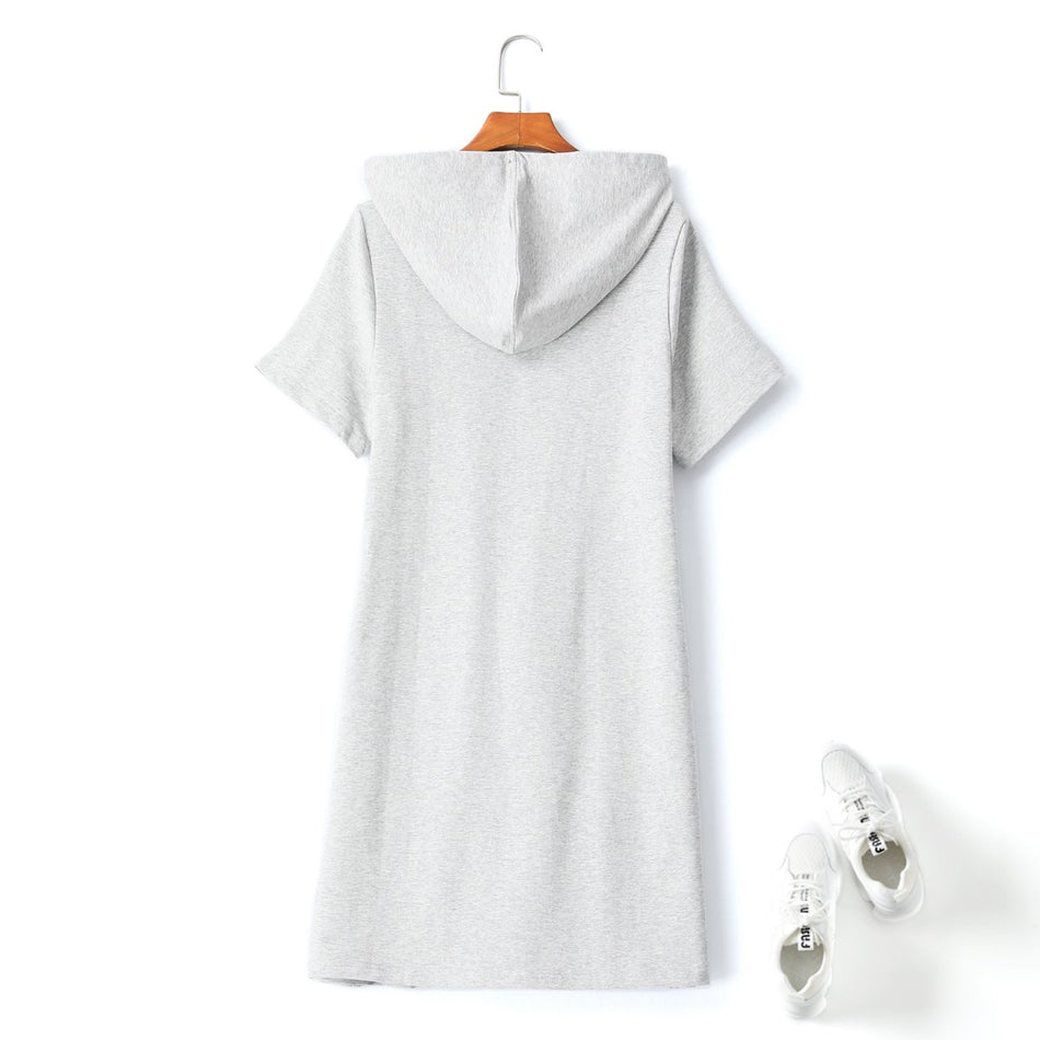 Mabel Plus Size Hoodie Utility T Shirt Dress