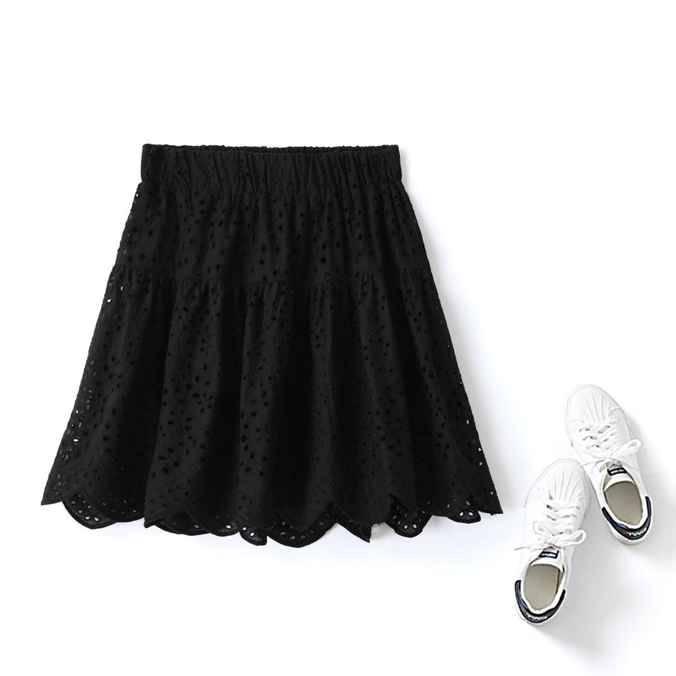 plus size lace mini skirt