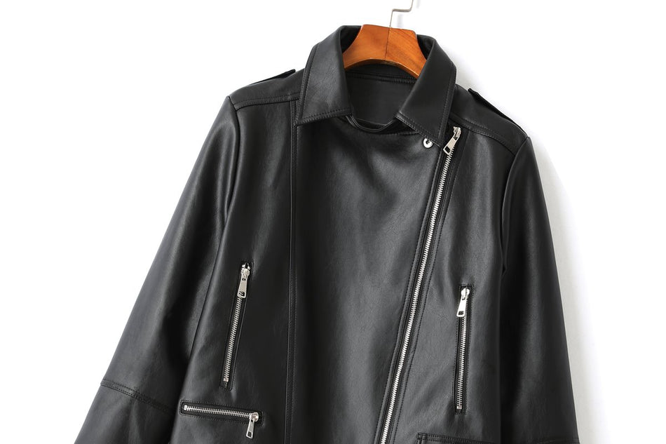 Fedra Plus Size Leather Jacket