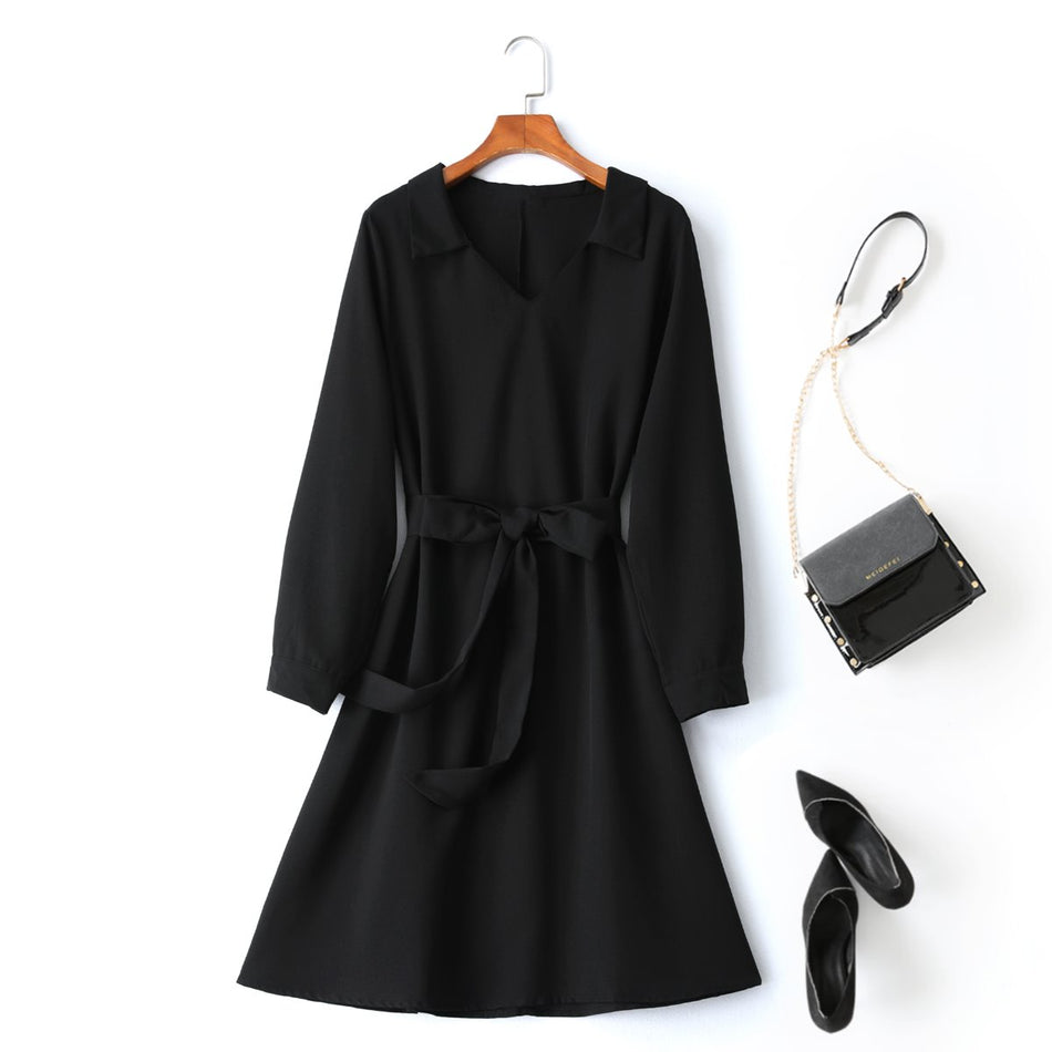 Plus Size Long Sleeve Shirt Dress