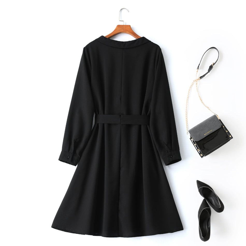 Nathalia Plus Size Long Sleeve Shirt Dress