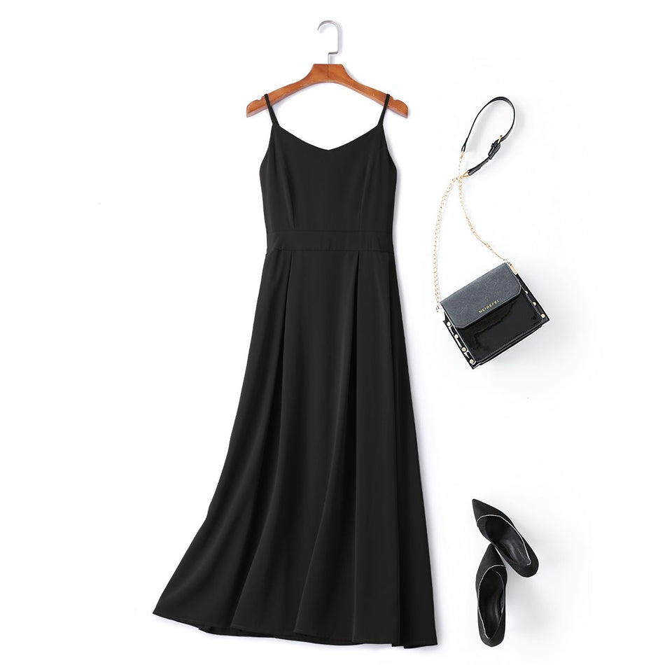 black plus size midi dress