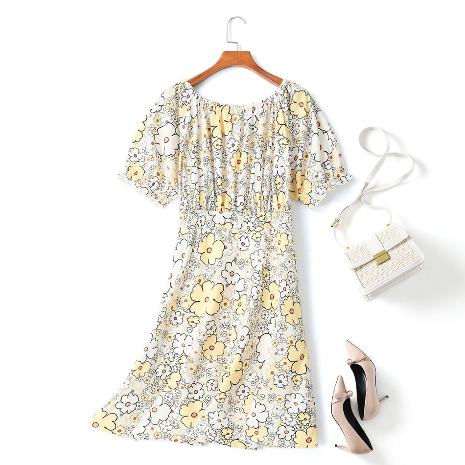 Millie Plus Size Mod Floral Dress