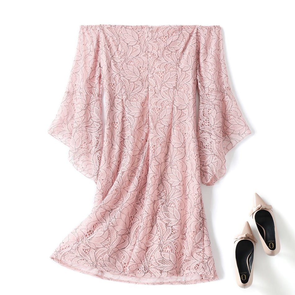 Enna Plus Size Bell Sleeve Lace Dress