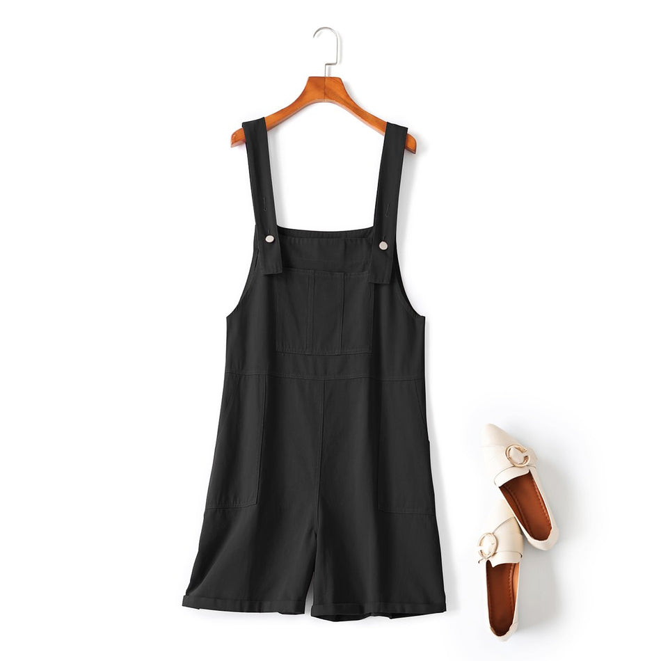 plus size black overalls