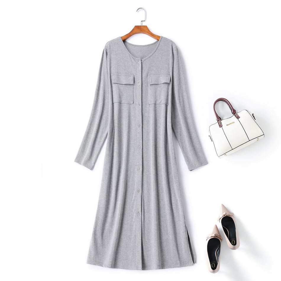 plus size ribbed knit dress