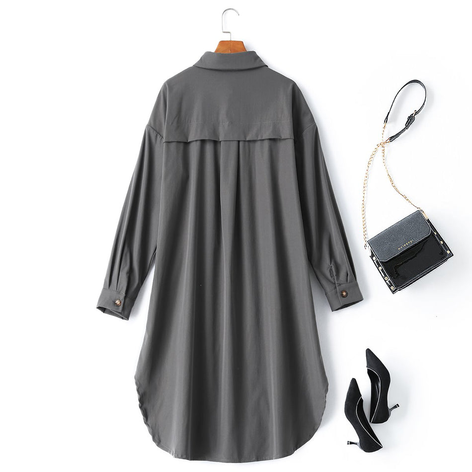 Viola Plus Size Shirt Dress / Long Jacket