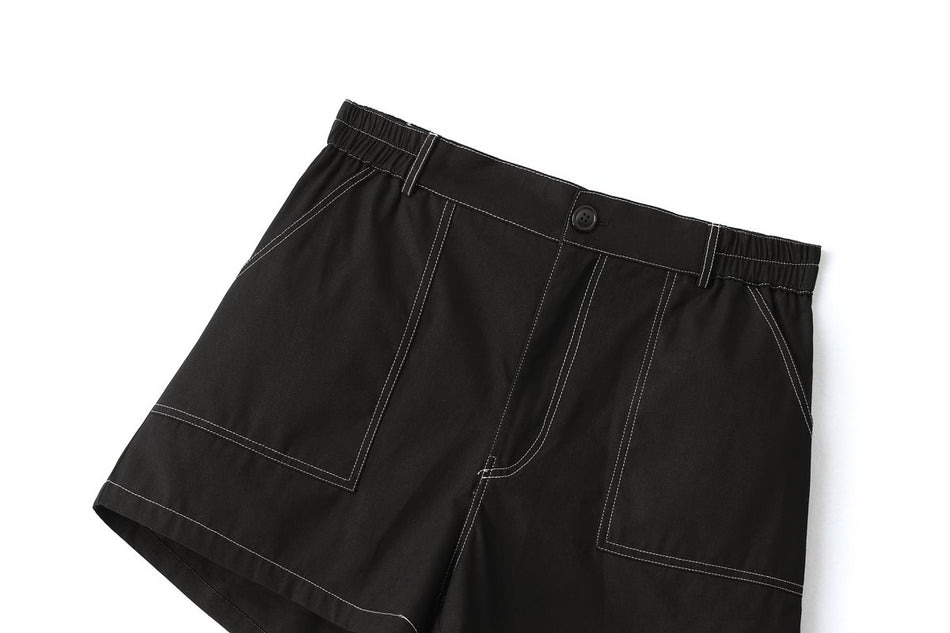 Olena Plus Size Black Shorts