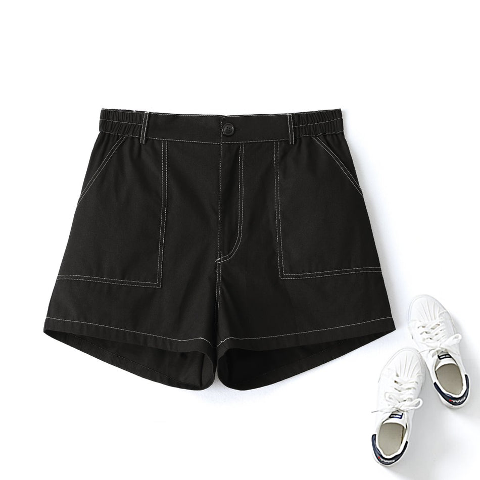 plus size black shorts