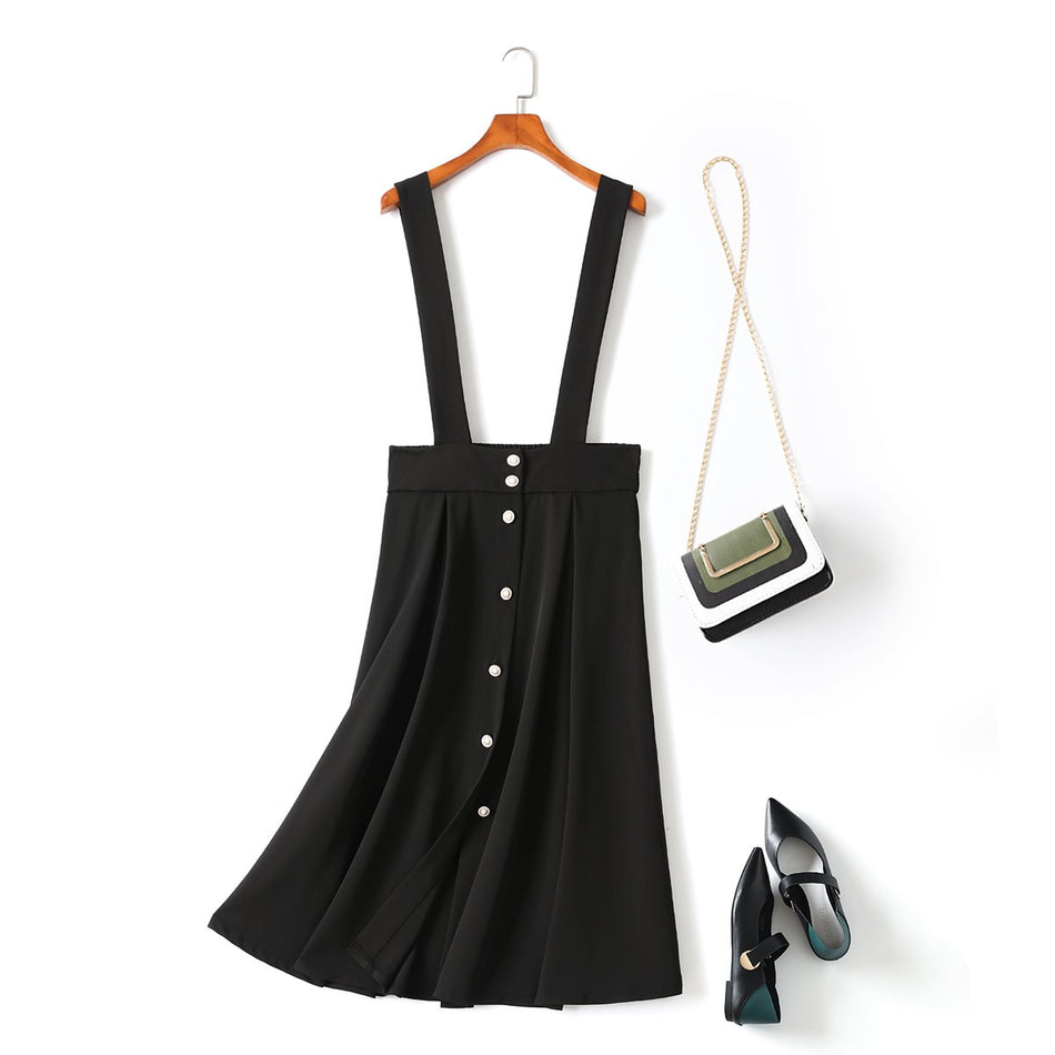 plus size suspender skirt