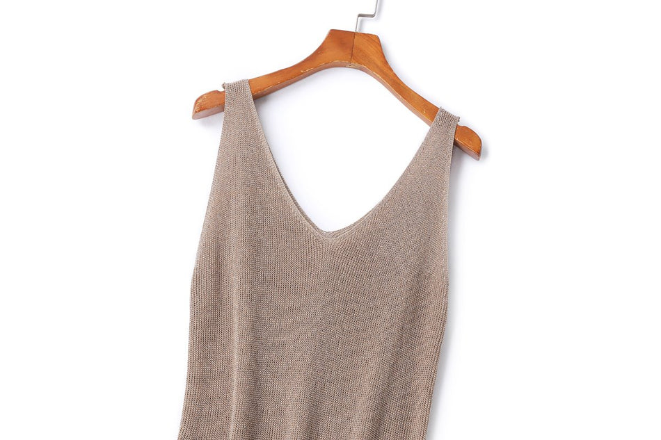 Plus Size Shimmer Tank Top