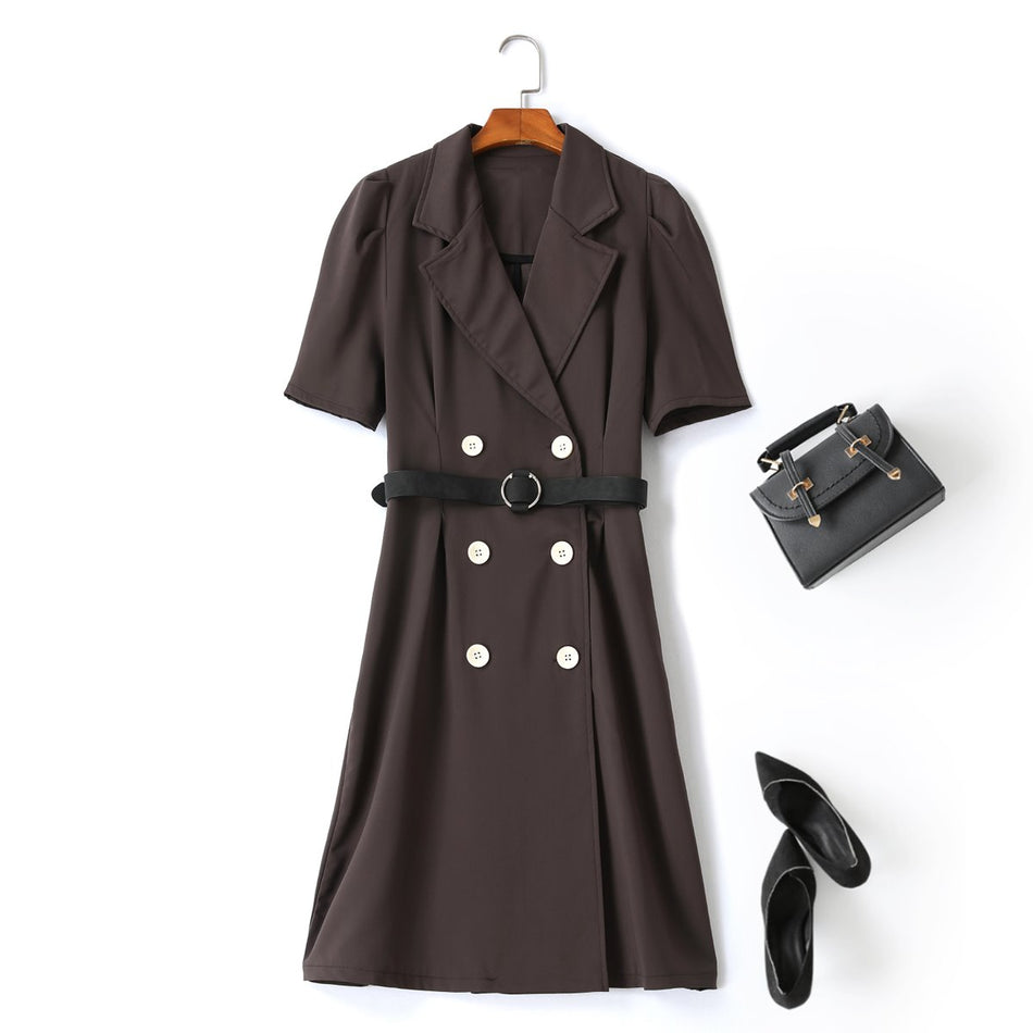 plus size trench coat shirt dress