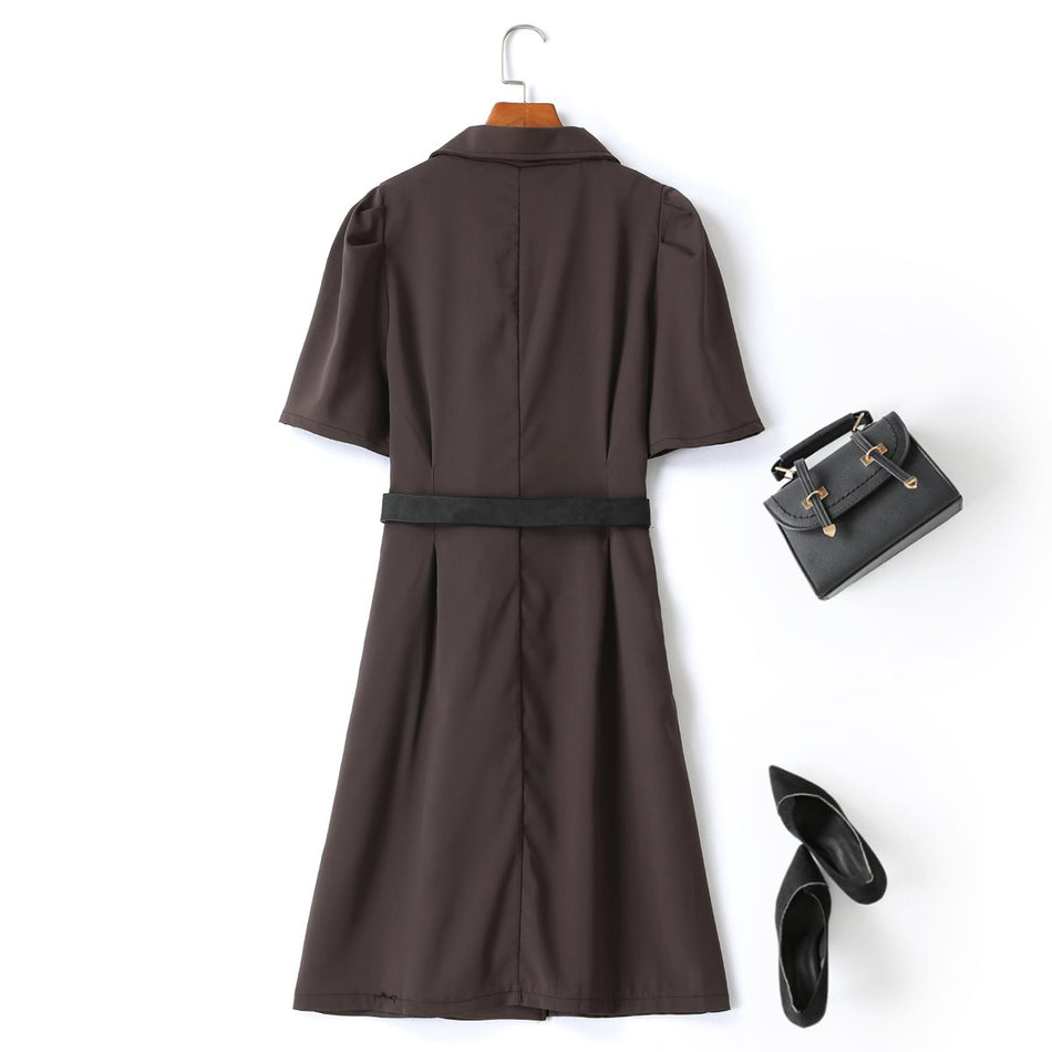 Hasna Plus Size Trench Coat Shirt Dress