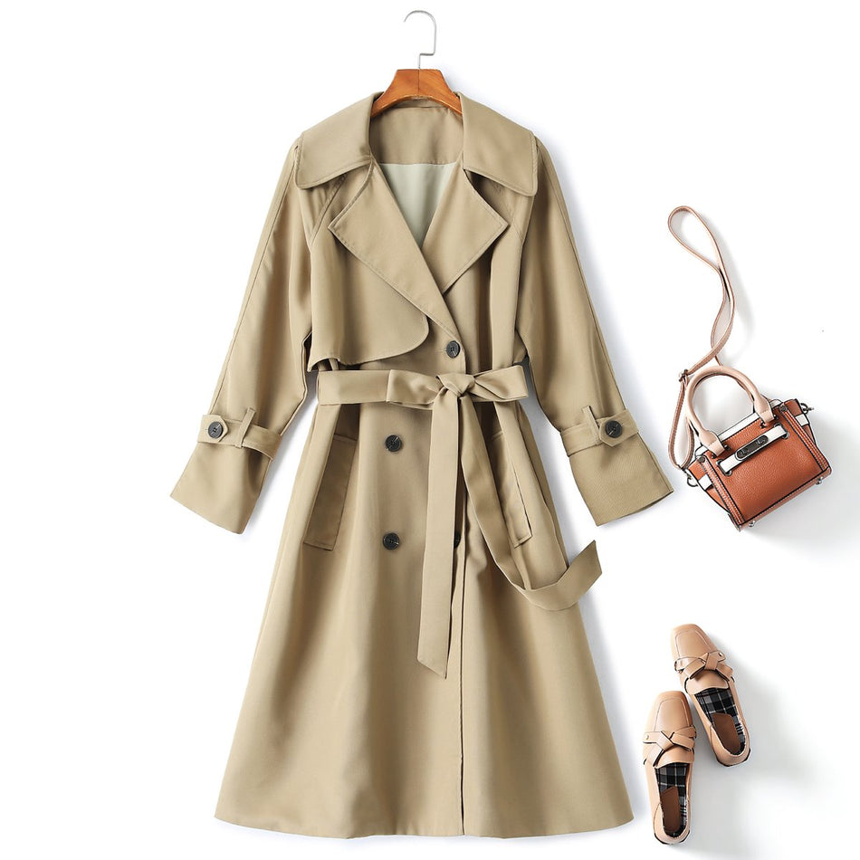 plus size windbreaker trench coat