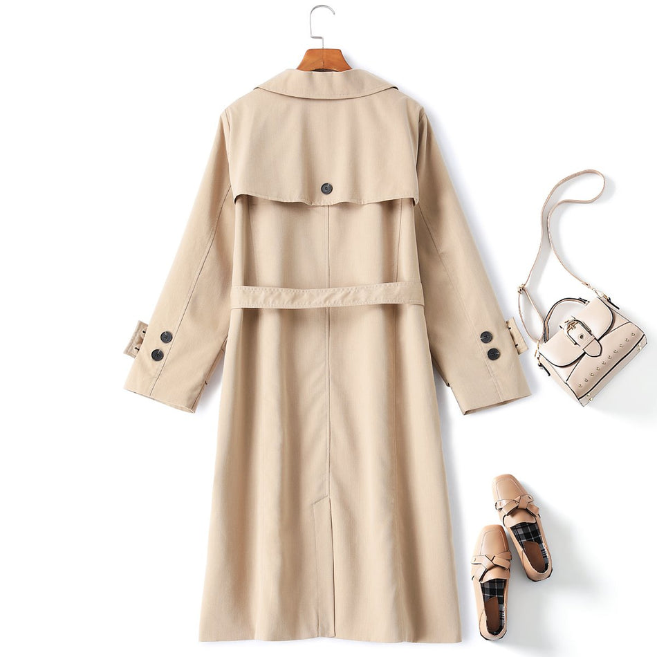 Sherlyn Plus Size Trench Coat