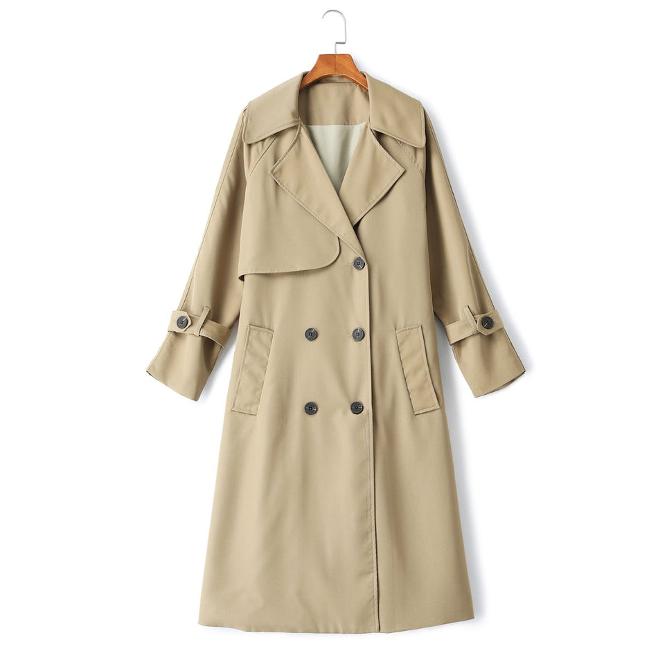 Warner Plus Size Windbreaker Trench Coat
