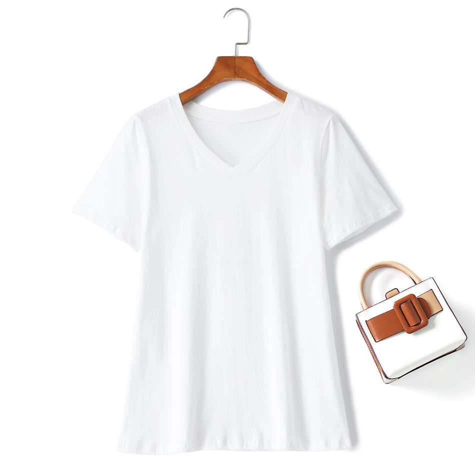 plus size v neck t shirt