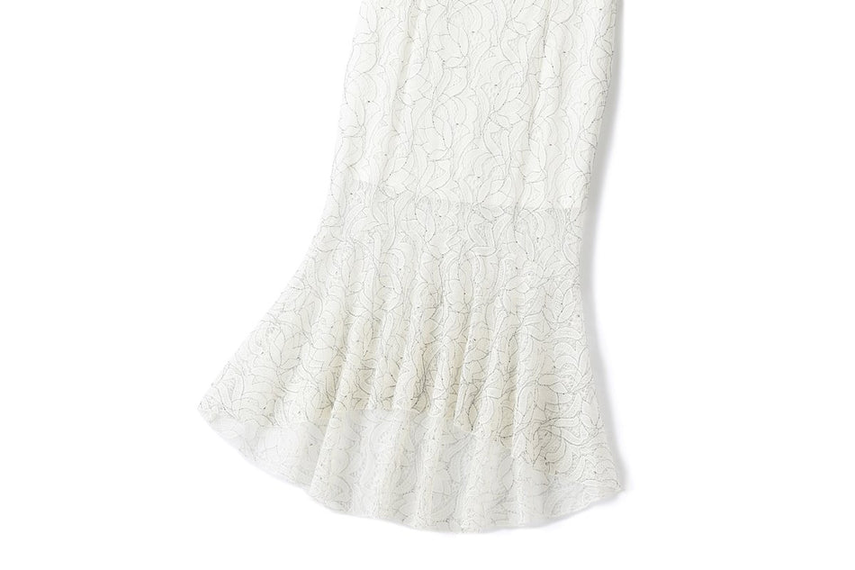 Delila Plus Size Lace Evening Maxi Dress