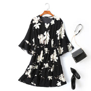 plus size wrap floral dress