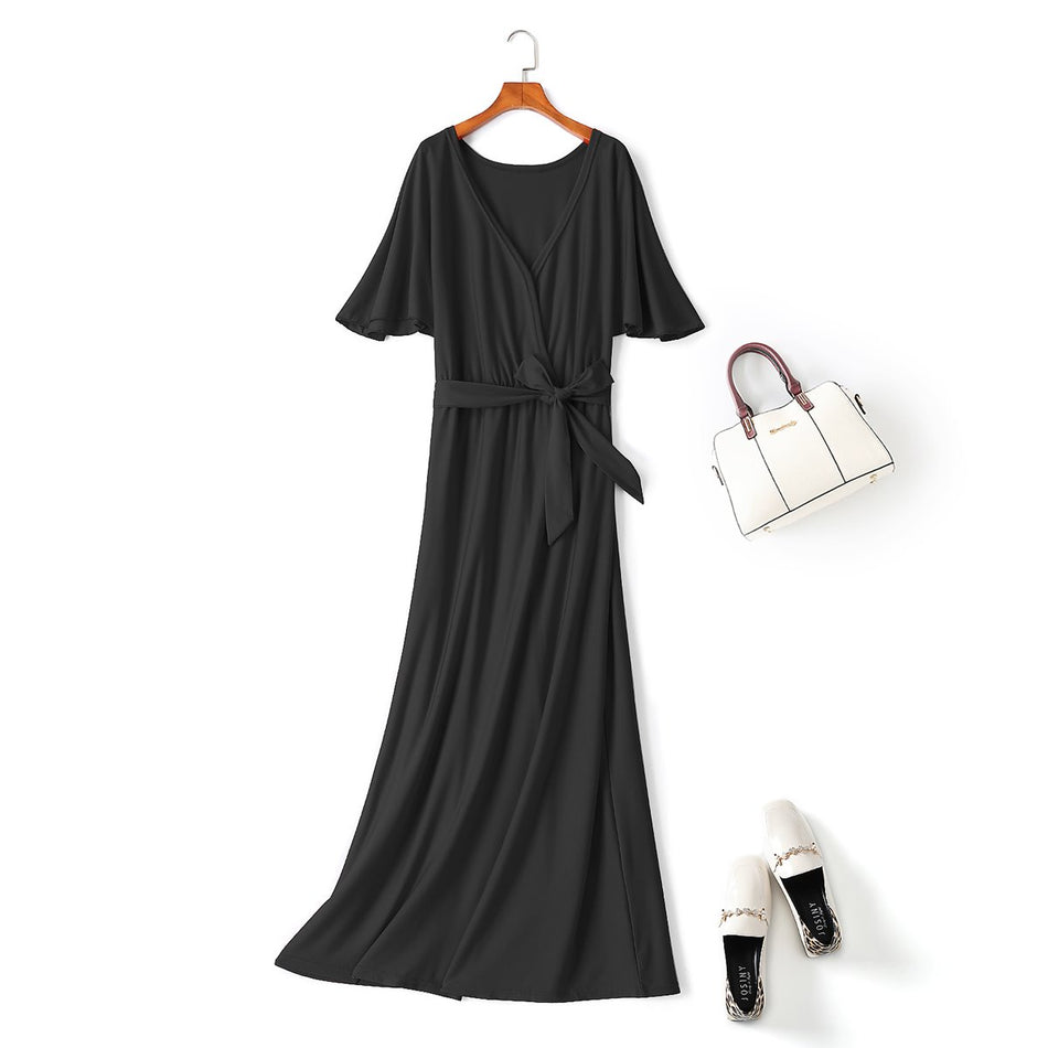 plus size black maxi dress
