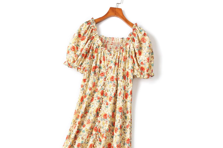 Bianca Plus Size Vintage Floral Midi Dress