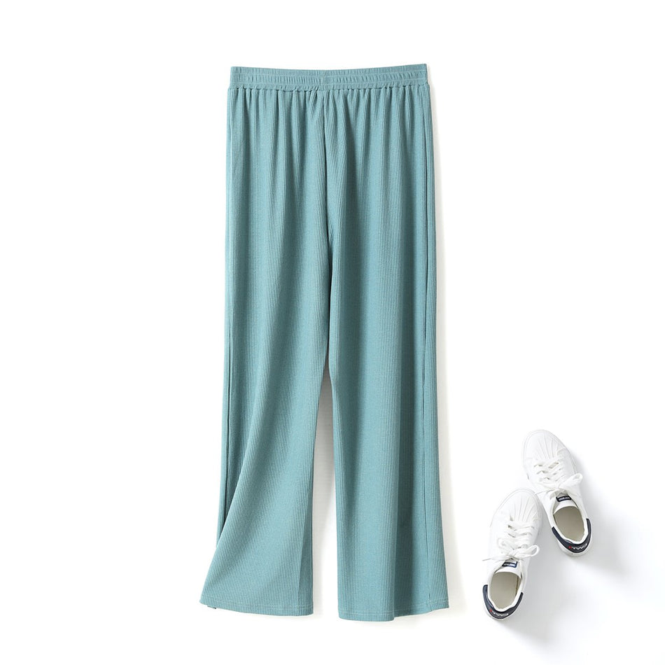 Pearly Plus Size Wide Leg Culottes Long Pants (Black, Green, Beige, Dark grey)