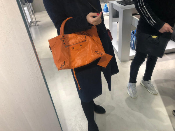 Balenciaga City Bag in orange
