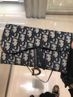 DIOR OBLIQUE SADDLE CLUTCH