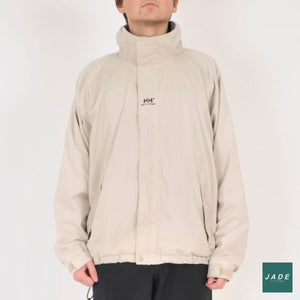 Beige Helly Hansen Shell Jacket | Outerwear | Helly Hansen | Beige Drawstrings Jacket Lynlås Off White