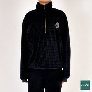 Black and Navy Outdoor Zip-Up Sweater | Outerwear | Forresters | black Navy Outdoor Vintage Zip-Up