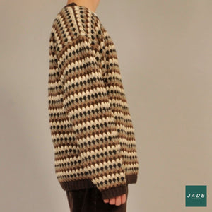 Brown Vintage Knit | Overdele | Vintage | brown Knit neutral Oversized Retro