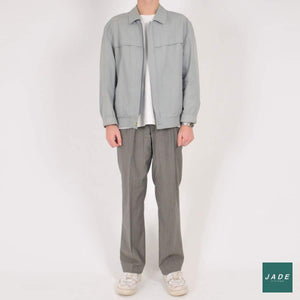Grey Pinstripe Trousers | Bukser | Vintage | Bredt fit bukser Grey Grå pants