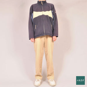 Helly Hansen Fleece | Overdele | Helly Hansen | Beige Blue Fleece Oversized Retro